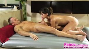 Brunette and sexy Sophia Leone gets her pussy hammered by Marcus